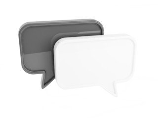 Two Chat Boxes (Black and White)