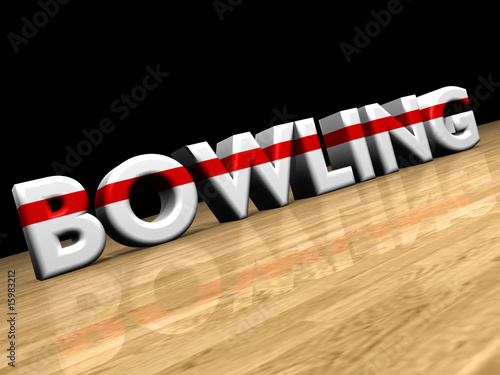 bowling on wooden parquet
