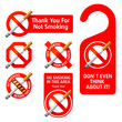 No Smoking signs. Vector.