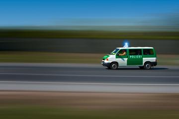 Polizei. Polizeiauto, Streifenwagen