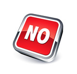 icône No / Non poster