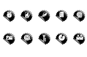 Web icons. Black badge