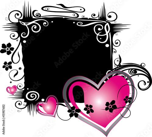 Hintergrund schwarz pink