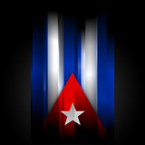 Abstract Cuban flag on black background