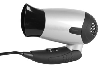 Hairdryer. Clipping path.