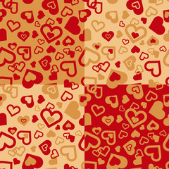 """Endlessly recurring """"hearty"""" pattern"""