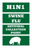 Swine flu road signs poster