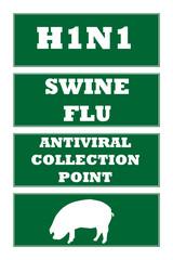 Swine flu road signs