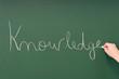 Knowledge written on a blackboard