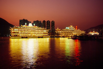 香港アバディーンの夜景