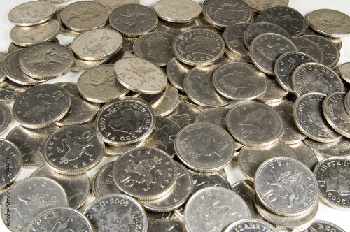 10p coins background