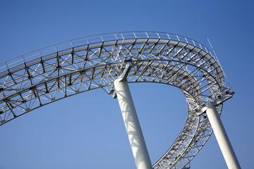 遊園地ジェットコースターの橋脚