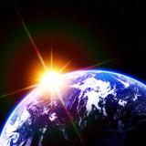 Fototapety 地球の夜明け