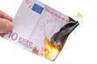 Euroschein brennt