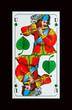 Bayerische Schafkopfkarte -Trumpfkarte Gras-UNTER