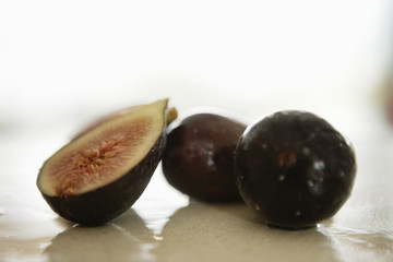 Close-up of figs on a table
