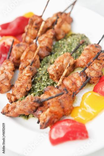Kebab on a plate