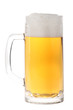 Full beer mug isolated on white