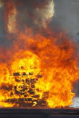 天神祭、かがり火