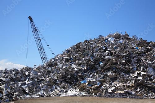 リサイクルされる鉄屑