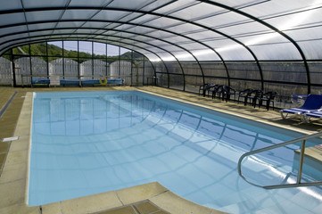 Indoor Pool auf Campingplatz in St. Austell
