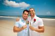 Gay wedding on a beach