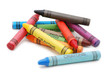 Crayons lying in chaos