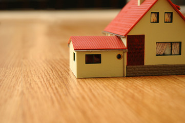 The house a toy on a floor