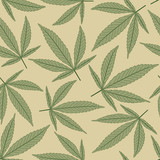 marijuana leaves in pattern