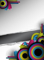 abstract retro flyer design