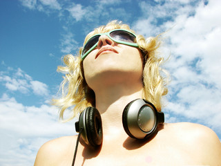 radio, relaxation, the teenager, headphones, the admirer, the DJ