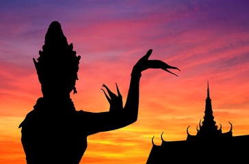 Thai dance sunset