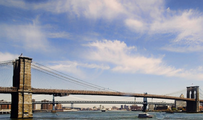 East River Brooklyn and Manhattan Bridges