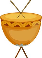 drum with drum sticks