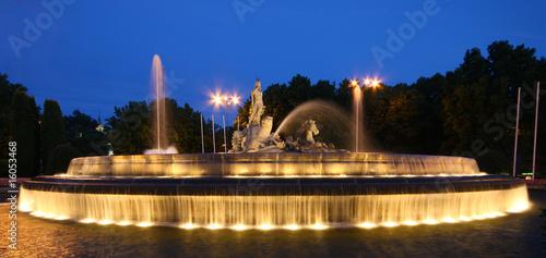 Leinwanddruck Bild Fuente de Neptuno, Madrid