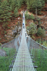 Suspension bridge in Himalaya, Nepal