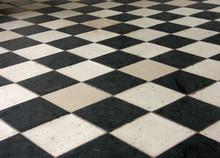 Harlequin kratkę kostka stare czarno-białe