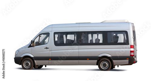 minibus on white - 16068271