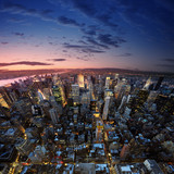 Manhattan at sunset - Fine Art prints