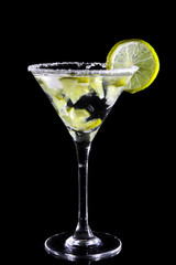 Martini with lime