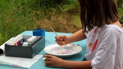artiste peintre en herbe