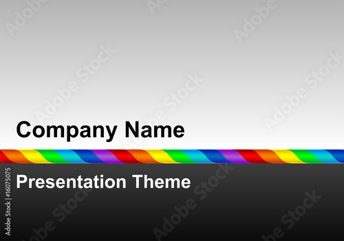 Rainbow line presentation template