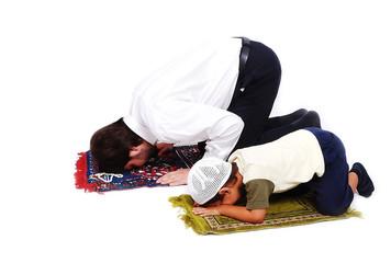 Muslim worship activites in Ramadan holy month