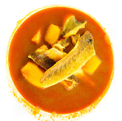 Bouillabaisse, traditional fish soup from Marseille, France