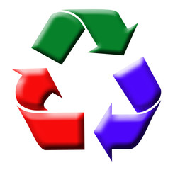 Colorful recycling symbol