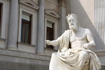 Statue infront of the Austrian Parliament