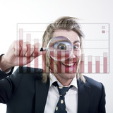 homme affaires analyse statistique poster