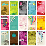 Fototapety collection of colorful business cards in different styles