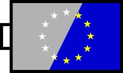 EU flag in battery