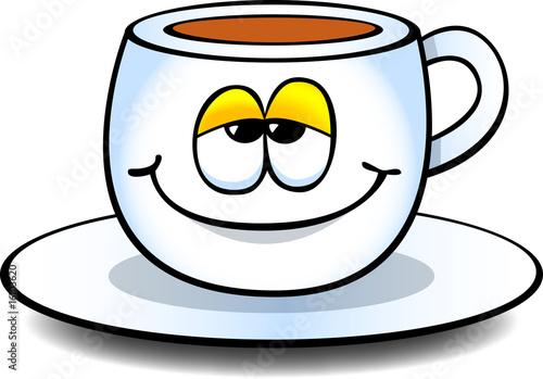 comic kaffeetasse l chelnd stockfotos und lizenzfreie vektoren auf bild 16103620. Black Bedroom Furniture Sets. Home Design Ideas